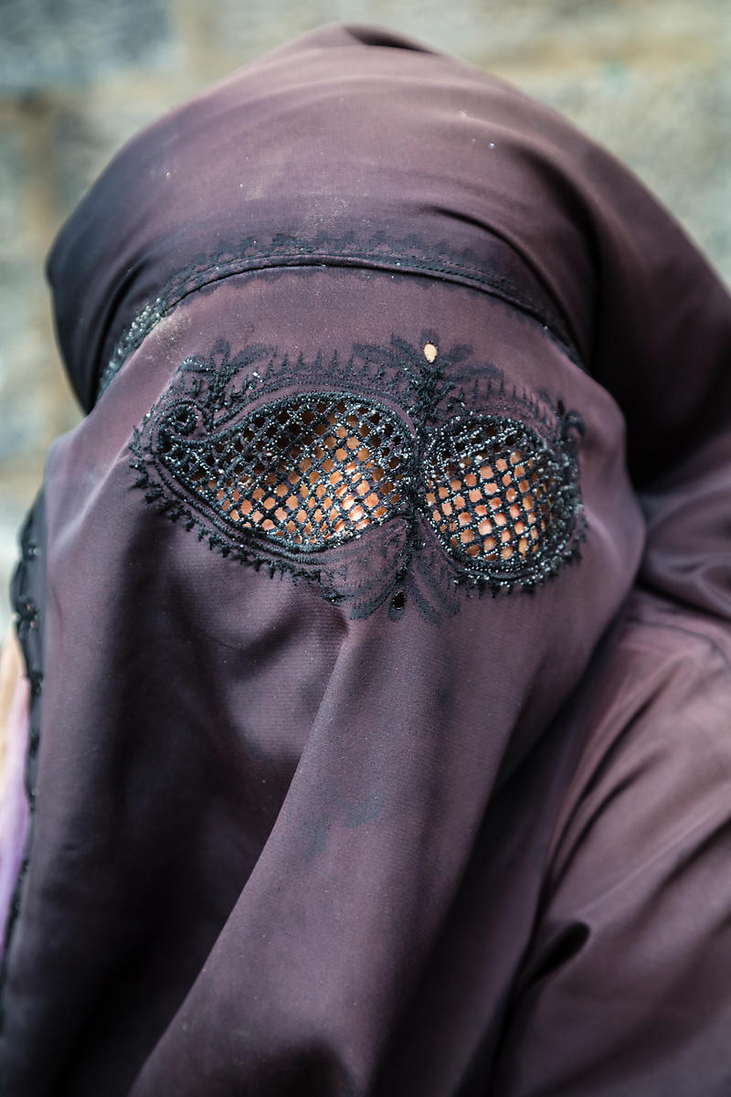 Portrait of a Woman in a Burka