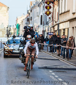 The Cyclist Bouet Maxime- Paris Nice 2013 Prologue in Houilles
