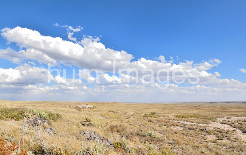 Clouds and blue sky over the Pawnee National Grassland