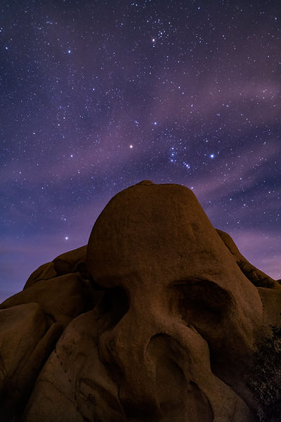 Orion Over Skull Rock