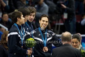Feb 26, 2010: Pacific Coliseum, Vancouver, BC. Team USA receive their Bronze Medal in the Mens 5000m Relay in the Short Track...