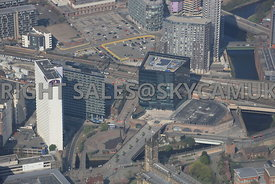 Salford regeneration area 101 Embankment and West Tower developments Chapel Street Manchester