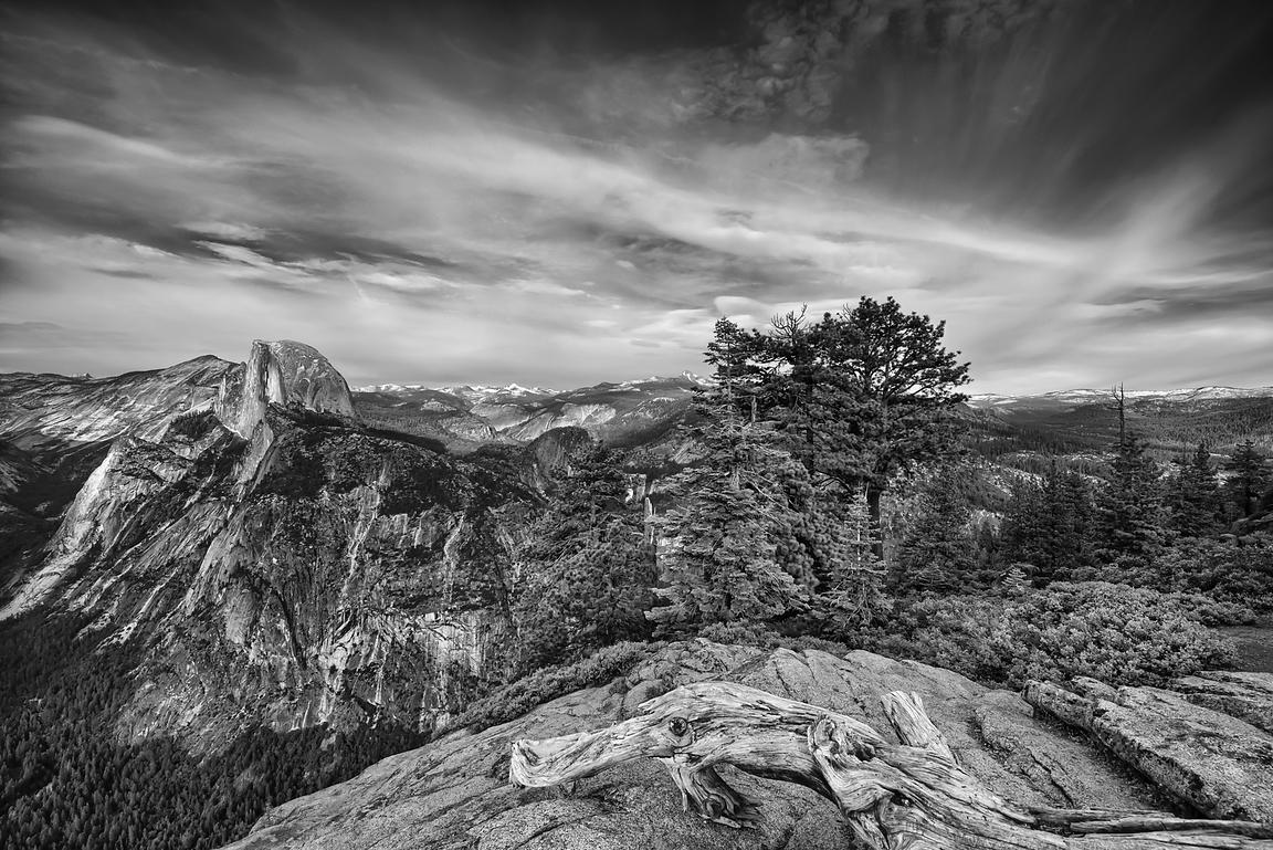 Glacier Point Vista - Monochrome