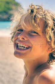 Smiling Child at Shell Beach