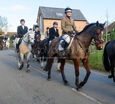 Leaving the meet. The Cambridge University Drag Hounds at Great Gidding 9/12