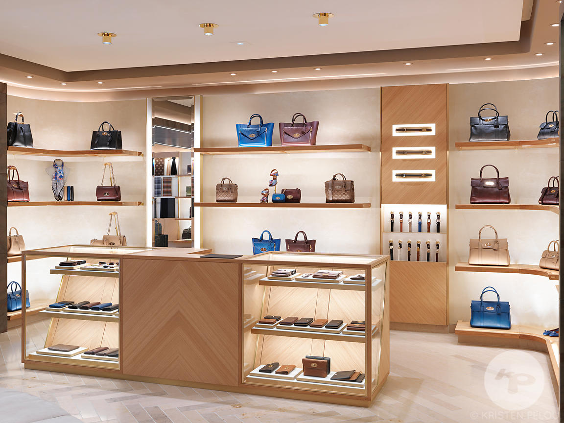 Retail architecture photographer - Mulberry Saint Honore, Paris. Photo ©Kristen Pelou