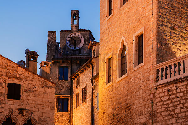 Bell Tower near the Tomaso Bembo Square at Dusk