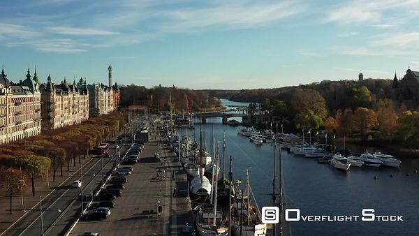 Drone Video ostermalm Stockholm Sweden