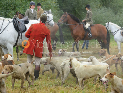 Andrew Osborne MFH with the Cottesmore hounds
