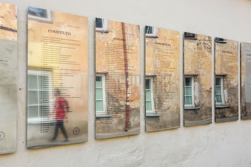Multiple Translations of the Constitution Hang in Paupio St