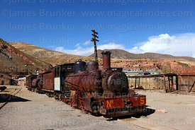 Number 5 2-8-2 steam engine at Pulacayo, Potosi Department, Bolivia