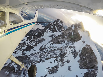 Exploring Coastal Mountains of British Columbia by Airplane