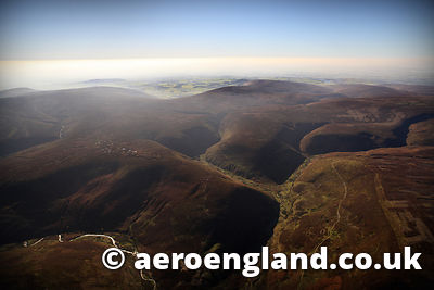 aerial photograph of the Forest of Bowland Lancashire England