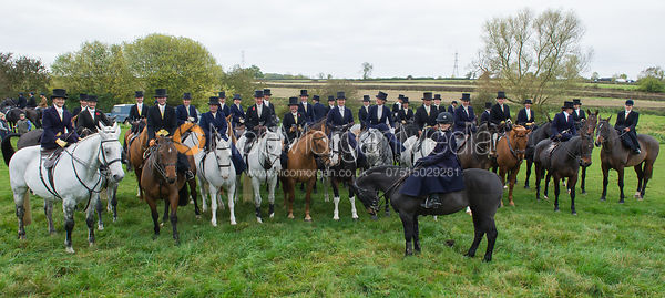 Records were broken as 40 Ladies attended the Quorn Hunt Opening Meet riding side saddle.