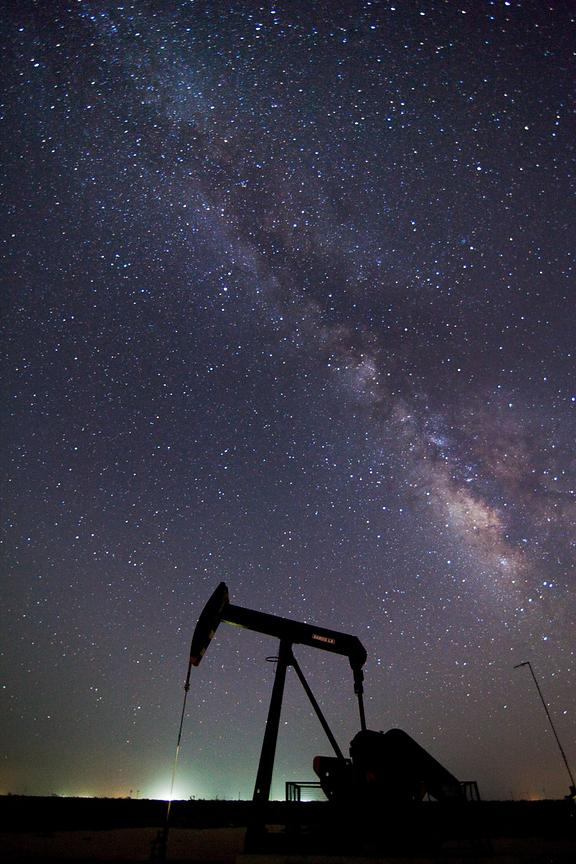 Pump Jack and Milky Way 2