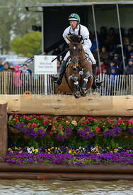 Clark Montgomery and LOUGHAN GLEN - Cross Country phase, Mitsubishi Motors Badminton Horse Trials 2014