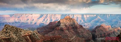 Panoramic sunset over North RIm, Grand Canyon, USA