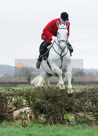 Andrew Osborne jumping the first hedge