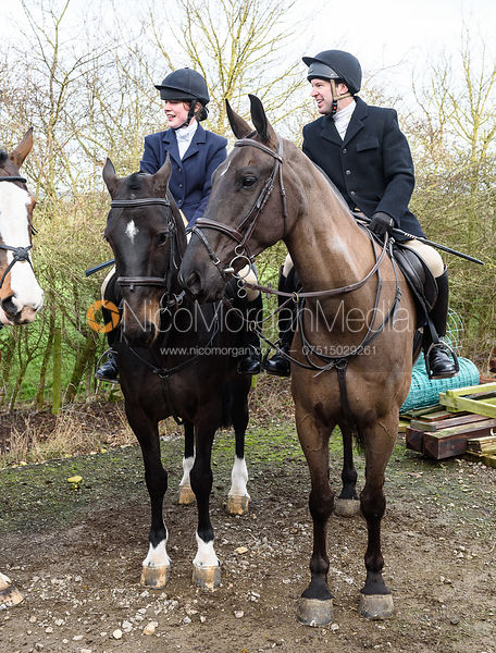 At the meet. The Cottesmore Hunt at Launde Park Farm