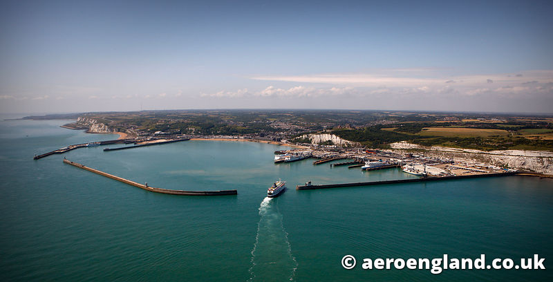 aerial photograph of Dover Kent England UK