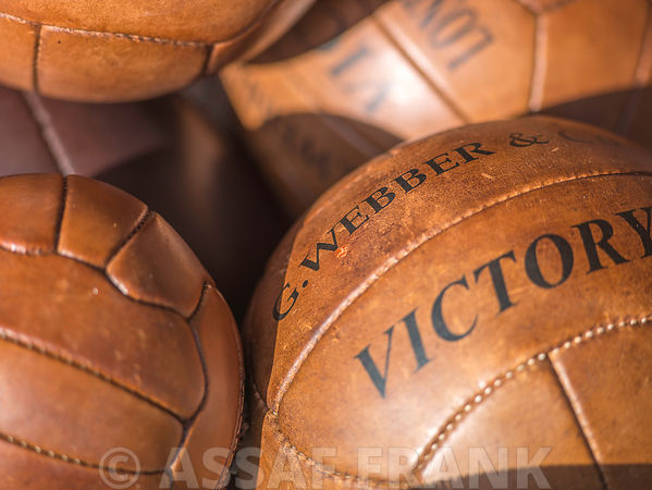 Old fashioned footballs