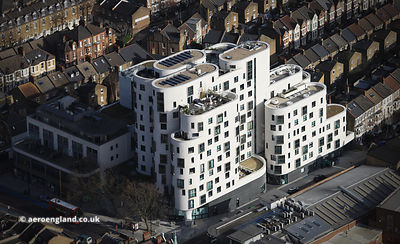 Clapham Library London  aerial photograph