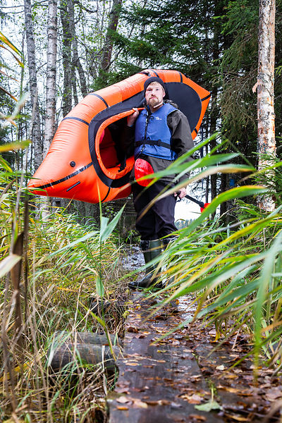 Packrafting combines hiking and paddling