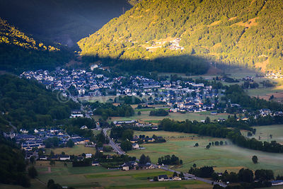 Village of Saint Lary Soulan, France