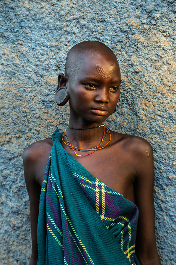 Portrait of a Young Surma Woman