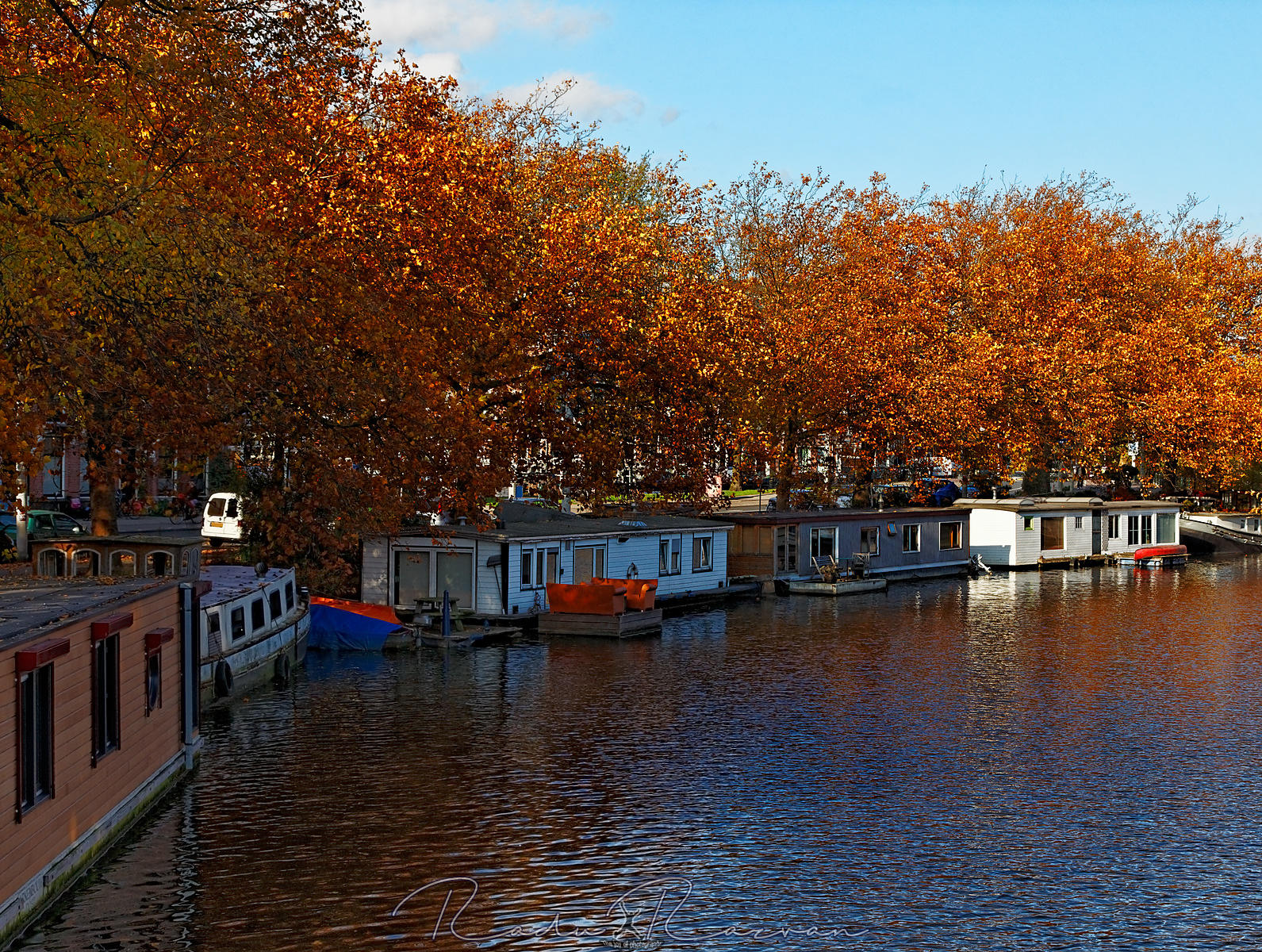 Autumn Canal in Amsterdam