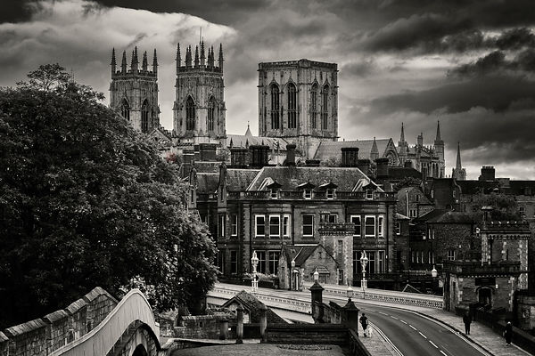 Elevated View of York Minster from the Medieval Walls