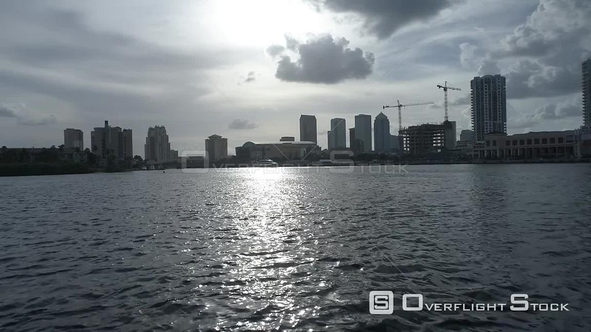 Drone Footage of Tampa Florida City Center Skyline