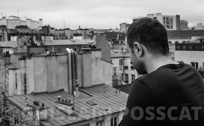 Photo shooting for men Paris roof top