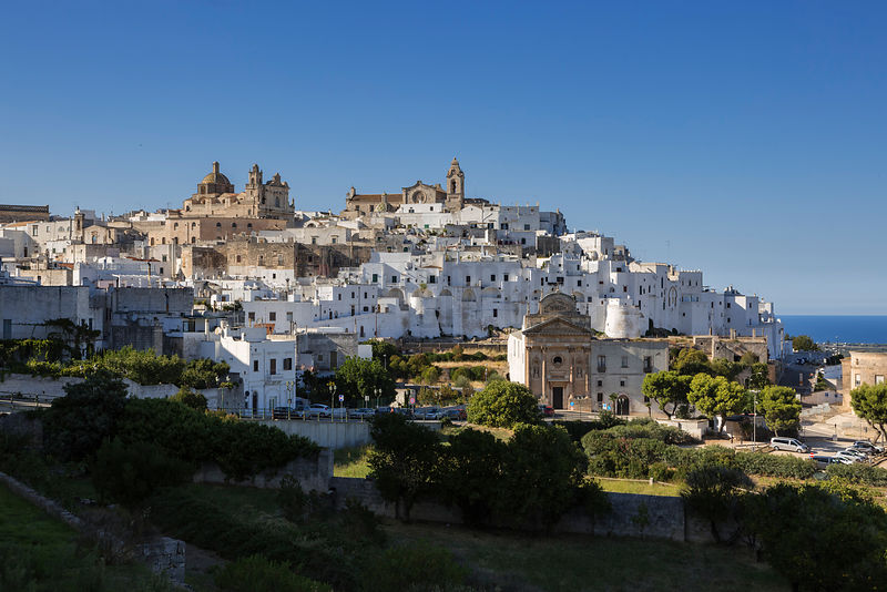 The White Town of Ostuni in the Itria Valley