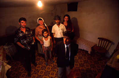 Albania - Lepurush village - Selman Brahim and her family