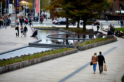 Liverpool One water features