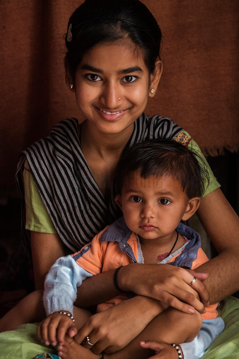 Portrait of Reshma and her Sister