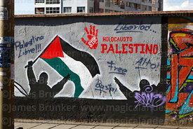 Mural showing support for Palestine, La Paz, Bolivia