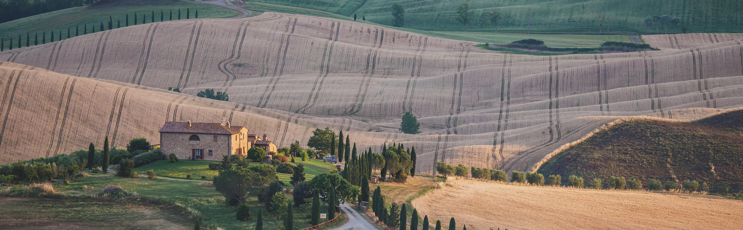Views of the Val d'Orcia in Tuscany, Italy