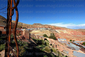 View over historic mining town of Pulacayo, Potosi Department, Bolivia