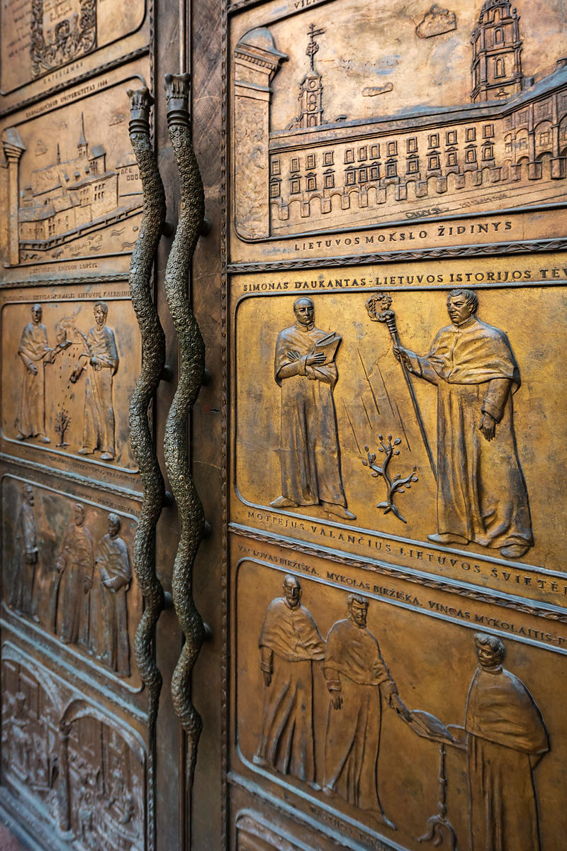 Bronze Doors at the Vilnius University