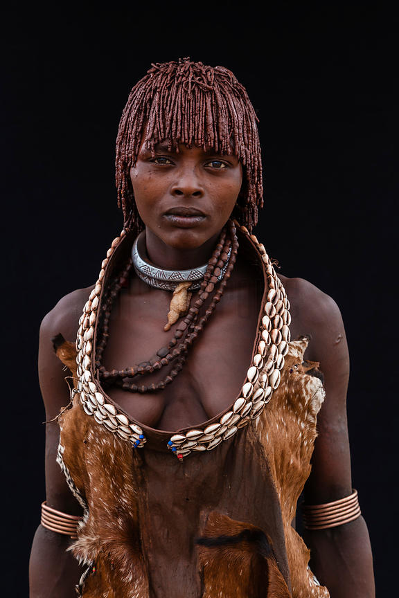 Portrait of a Hamar Woman