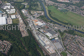 Manchester high level view of Langley road south Industrial Estates Agecroft Manchester