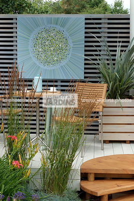 Container, Garden chair, garden designer, Garden furniture, Garden table, Terrace, Trellis, Window box, Contemporary Terrace, Wooden Terrace, Digital, Grasses