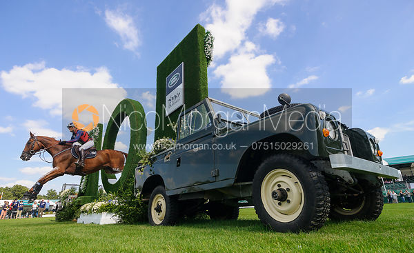 Cedric Lyard and QATAR DU PUECH ROUGET, cross country phase, Land Rover Burghley Horse Trials 2018