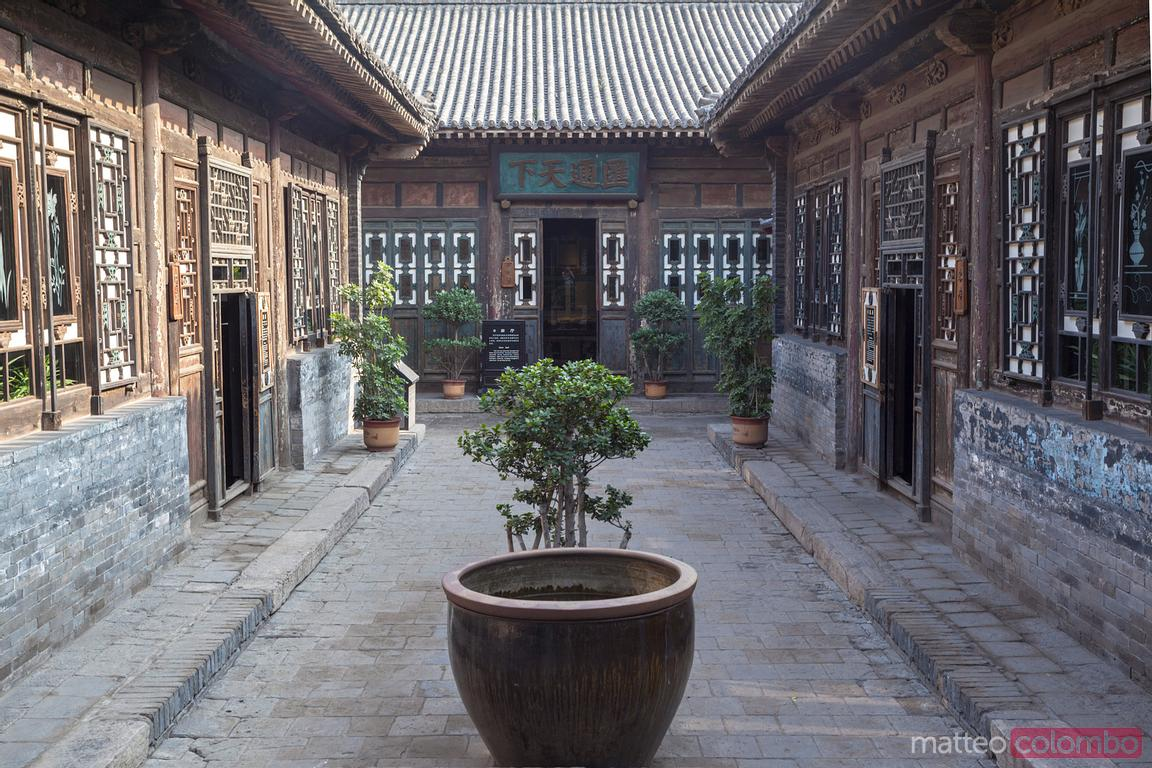 Cour chinoise antique dans PIngyao, Chine