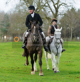Johnny Fountain at the meet at Goadby Hall - The Belvoir Hunt at Goadby Hall 24/12