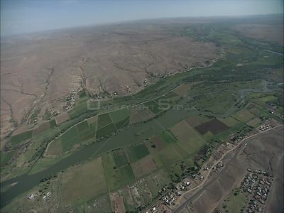 Aerial over farmlands, Augrabies Augrabies Falls Northern Cape South Africa