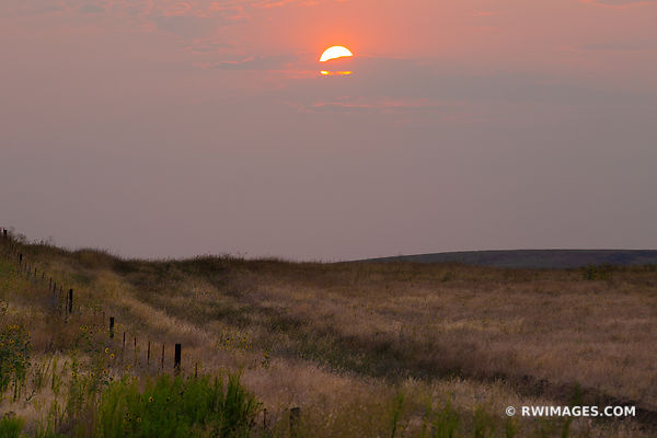 SUNSET PALOUSE WASHINGTON