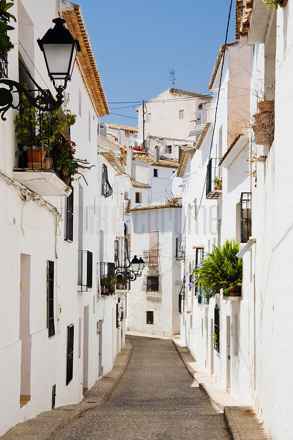 Street Scene Altea Valancia Spain